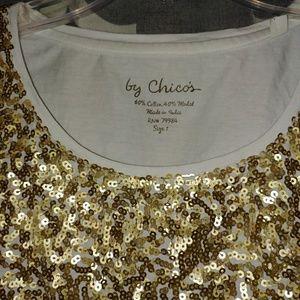 Chicos gold sparkles tank